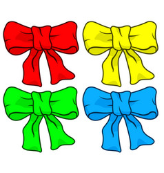 Bow knot set vector