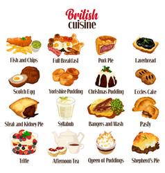 British food cuisine vector