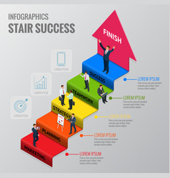 career ladder of a businessman or a stage of vector image vector image