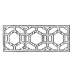 ceiling design peruzzi vintage engraving vector image