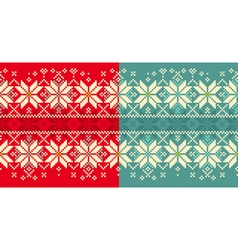 Christmas knitted seamless ornament vector image