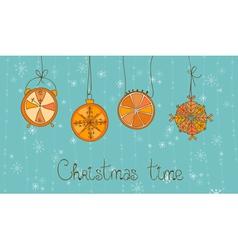 christmas time card vector image