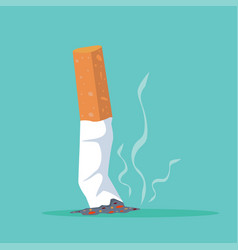 Cigarette butt flat vector