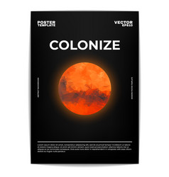 Colonize mars poster vector