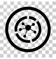 Connections diagram icon vector