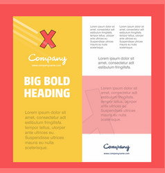 cross business company poster template with place vector image