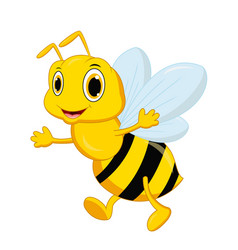 cute bee cartoon posing vector image