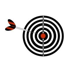 Darts board and arrow vector
