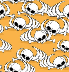 Dead desert seamless pattern Remains of skeleton vector