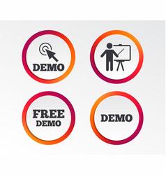 Demo with cursor icon presentation billboard vector