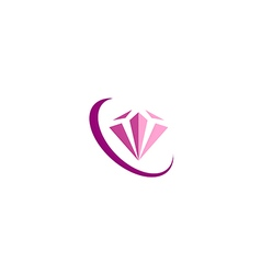 Diamond jewelry fashion beauty logo vector