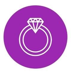 Diamond ring line icon vector