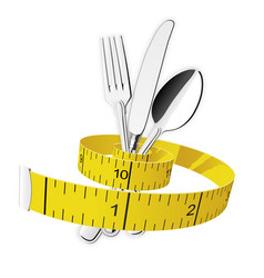 diet and lose weight concept - measuring tape vector image