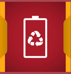 Eco battery icon for web and mobile vector