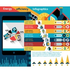 Energy Efficiency Infographics vector image