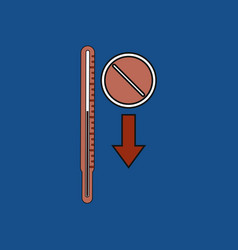 Flat icon design collection medical thermometer vector