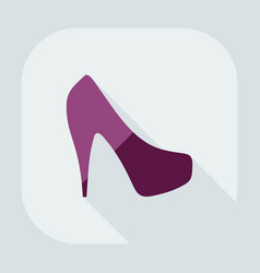 Flat modern design with shadow icon womens shoes vector