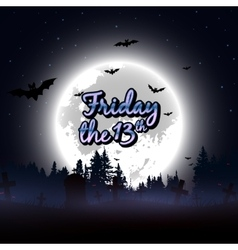 Friday the 13th message design background vector