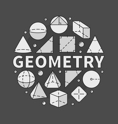 geometry on dark background vector image