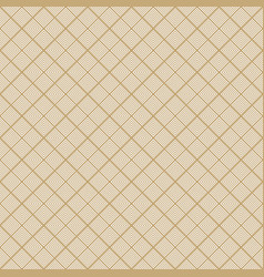 golden geometric seamless pattern with squares vector image
