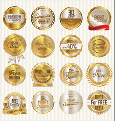 golden labels collection vector image