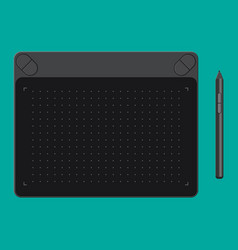 graphic tablet tab and pen vector image