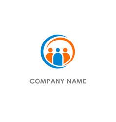group leader people logo vector image