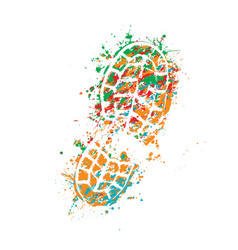 Grunge colorful shoes vector