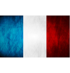 Grunge French flag vector image