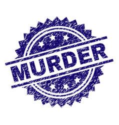 Grunge textured murder stamp seal vector
