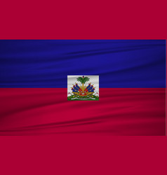 haiti flag flag of haiti blowig in the wind eps vector image