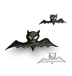 Halloween monsters spooky vampire bats isolated vector