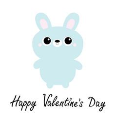 happy valentines day rabbit bunny toy icon cute vector image