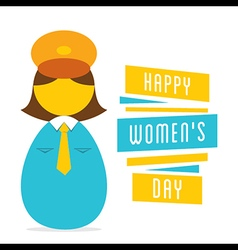 Happy womens day work in women police design vector