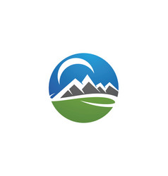 High mountain icon logo business template vector