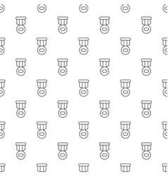 Hockey medal pattern seamless vector