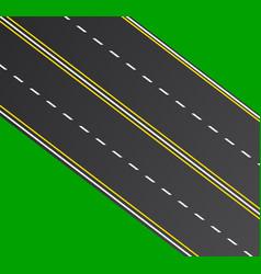 isometric road vector image