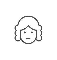 Judge line icon vector