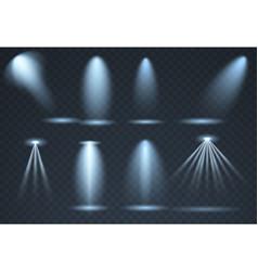 large set blue scene illumination effects vector image