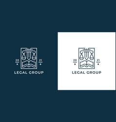 law firm logo icon vector image