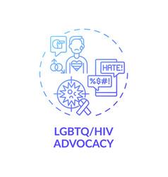 Lgbtq and hiv advocacy concept icon vector