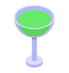 Lime juice cocktail icon isometric style vector