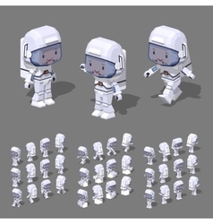 Low poly astronaut vector image
