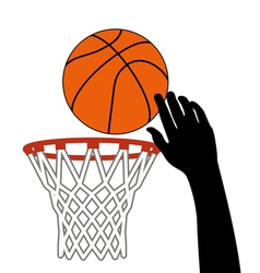 lucky shot of basketball vector image