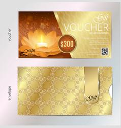 luxury golden and gift voucher for festival vector image