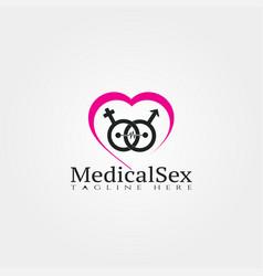 medical icon templatesex logocreative design vector image