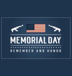 Memorial day banner collection stock vector