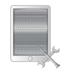 mobile repair icon monochrome vector image