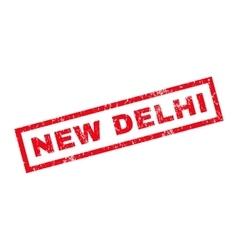 New Delhi Rubber Stamp vector
