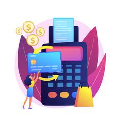 Payment processing concept metaphor vector